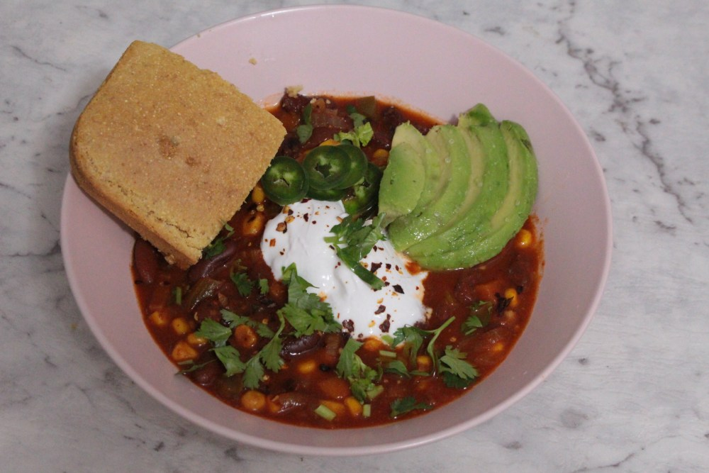 Easy & Hearty Vegan Chilli