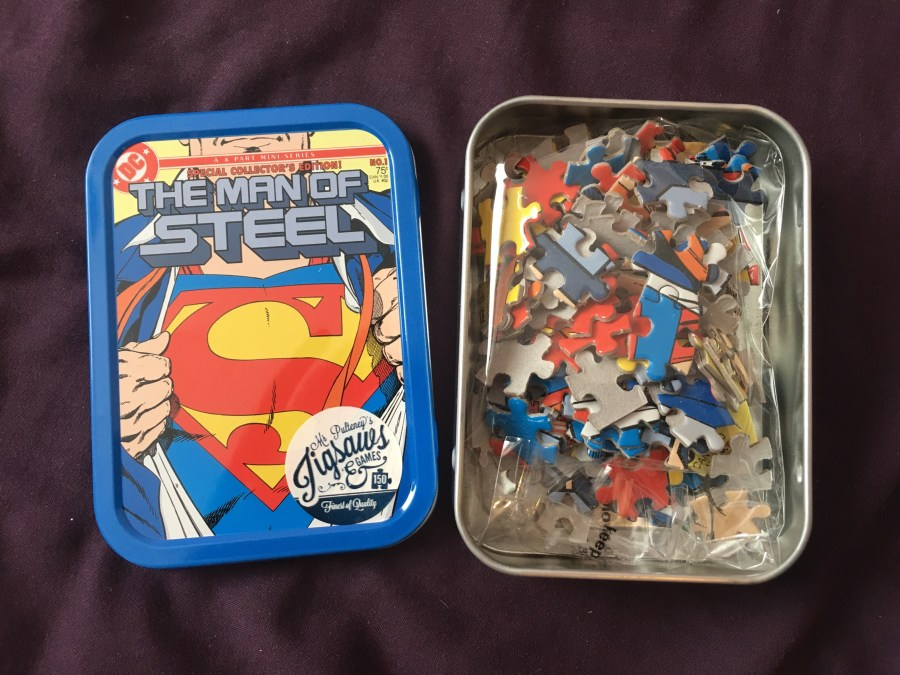 Man of Steel Tin Puzzle