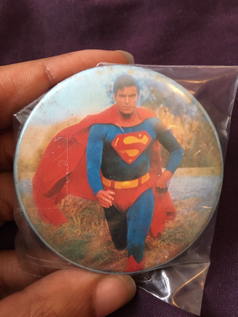 Christopher Reeve Superman Pin Badge