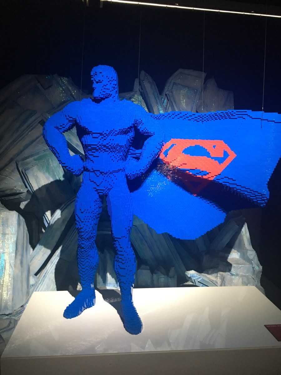 Superman in the Fortress of Solitude - Lego Sculpture