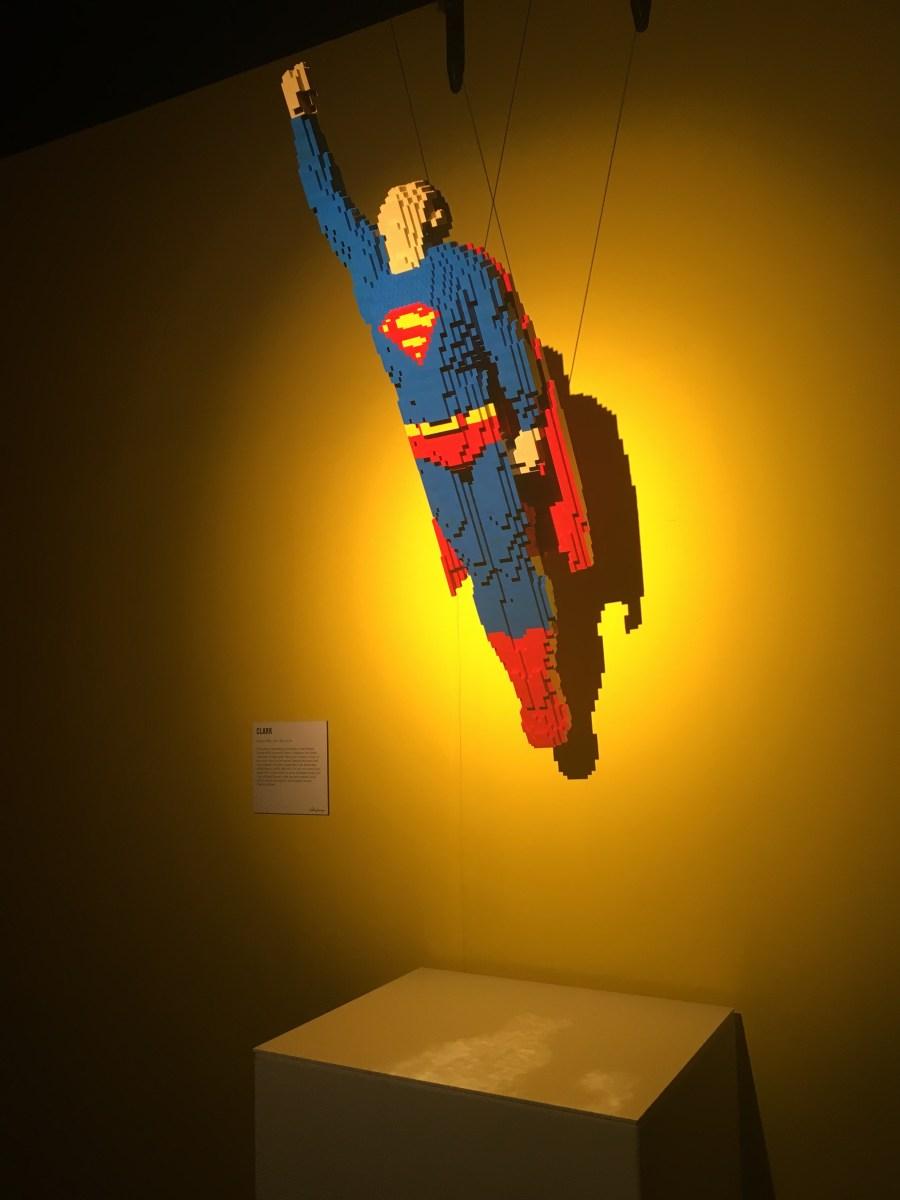 Superman Flying Scene - Lego Sculpture