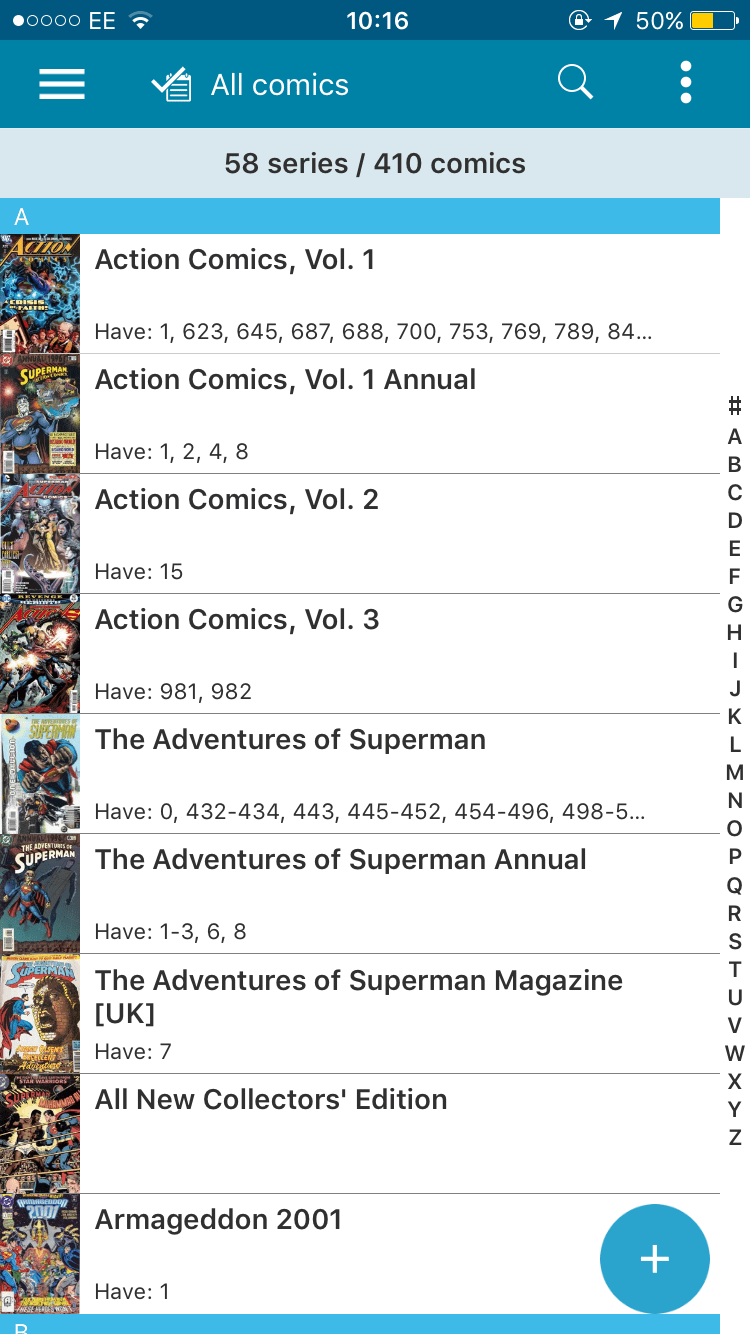 CLZ Comic App - Your Database