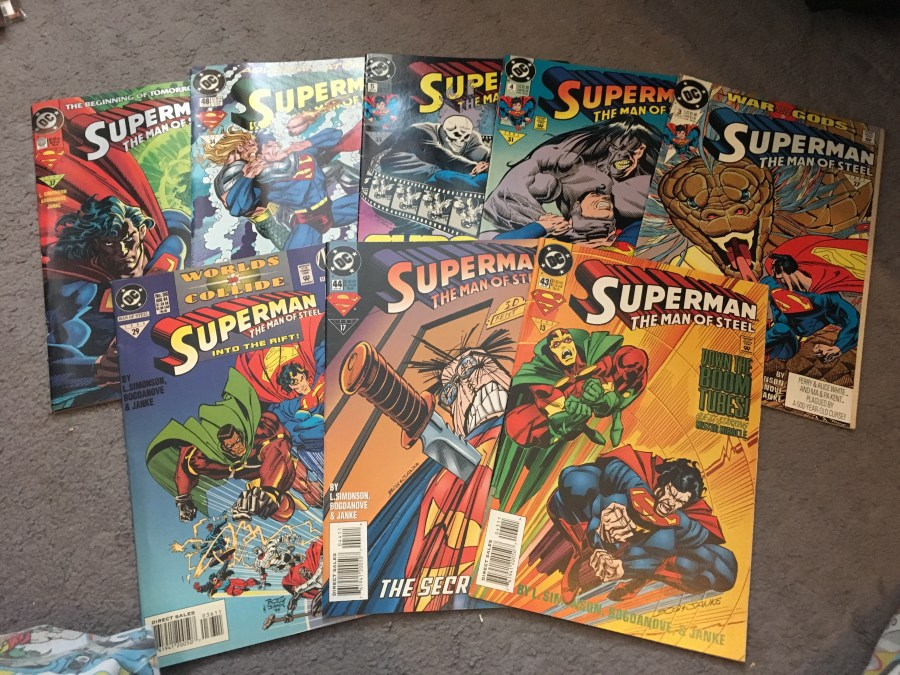 Superman: The Man of Steel Comic - Issue 4, 3, 29, 44, 43