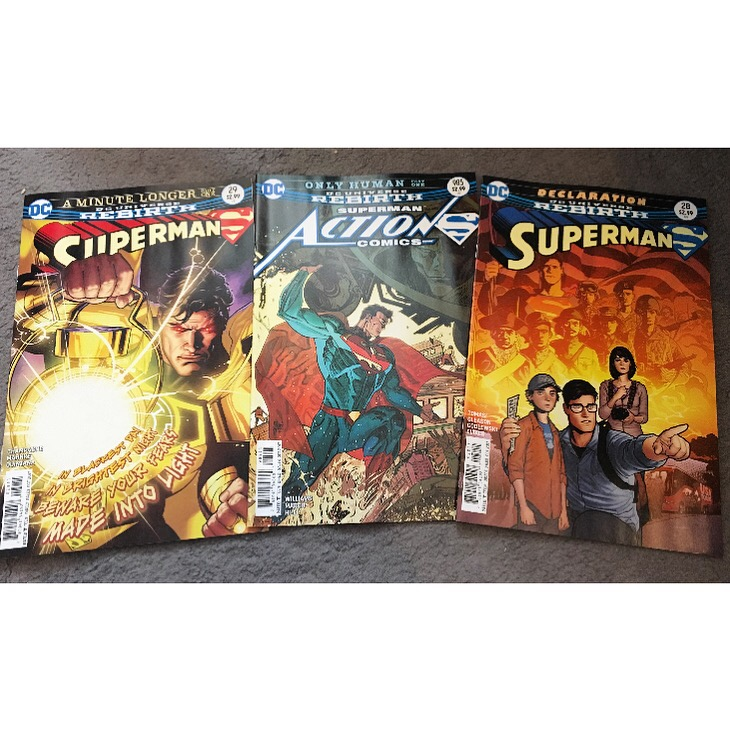 Superman Vol 4 - Issue 28 & 29, and Superman in Action Comics - Issue 985.