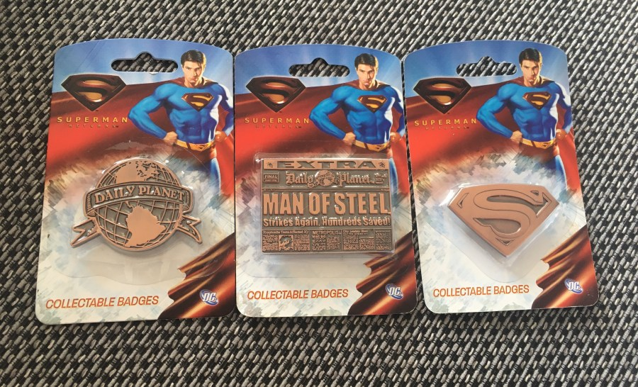 Superman Returns Bronze Collectible Pin Badges
