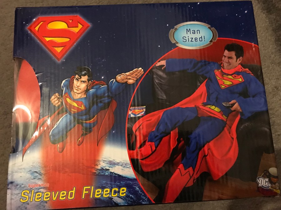 Superman Man-Sized Sleeved Fleece