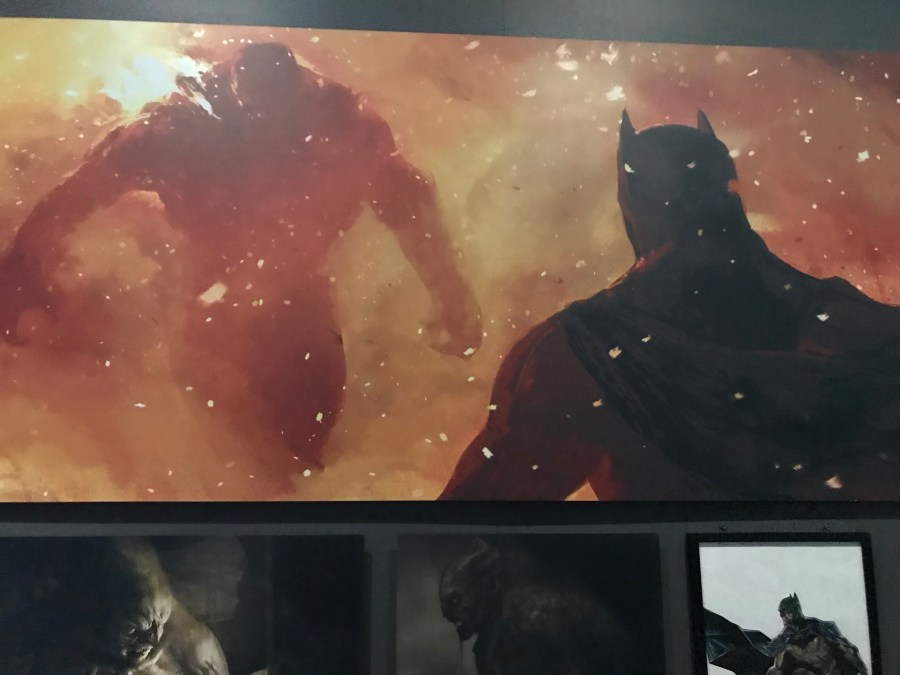 Batman and Doomsday Scene from Batman V Superman