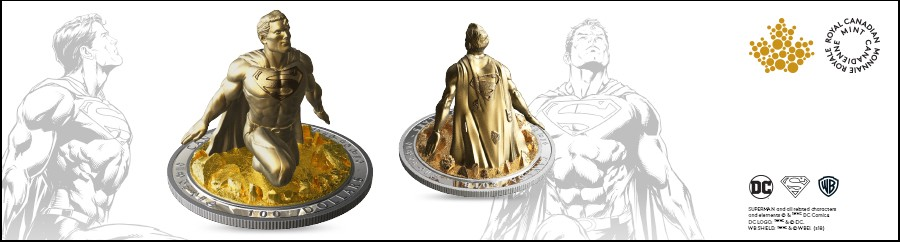 Canadian Mint Superman Statue 3D