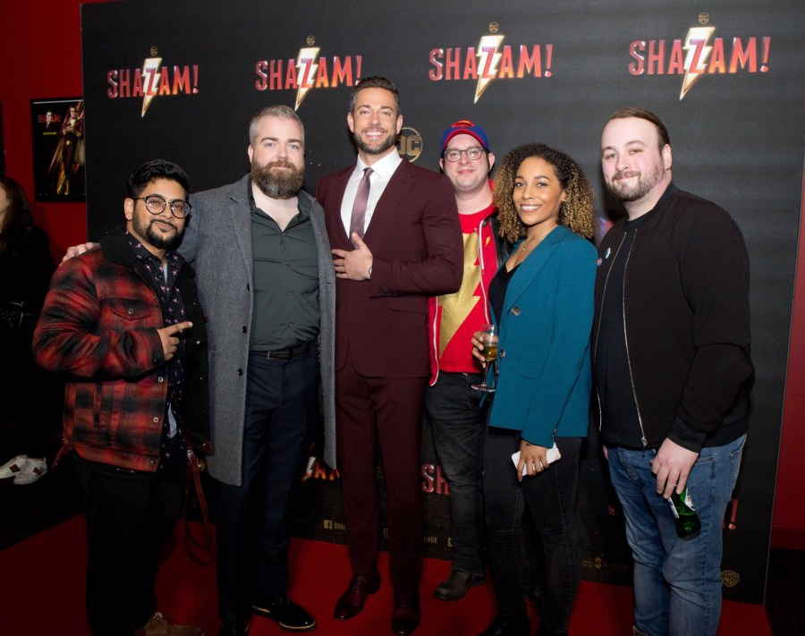 Shazam SCreening Zachary Levi
