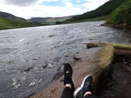 Dove Stone Reservoir (I was lying down on rocks in the middle of water, it could have ended very badly)