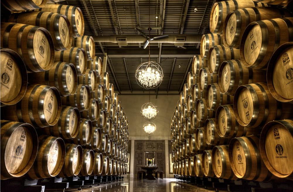 Two Sisters Vineyards Winery cellar