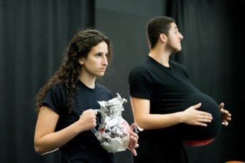 Lena Schwartz '19 and Ethan Embry '19. Photo: Dante Haughton '19