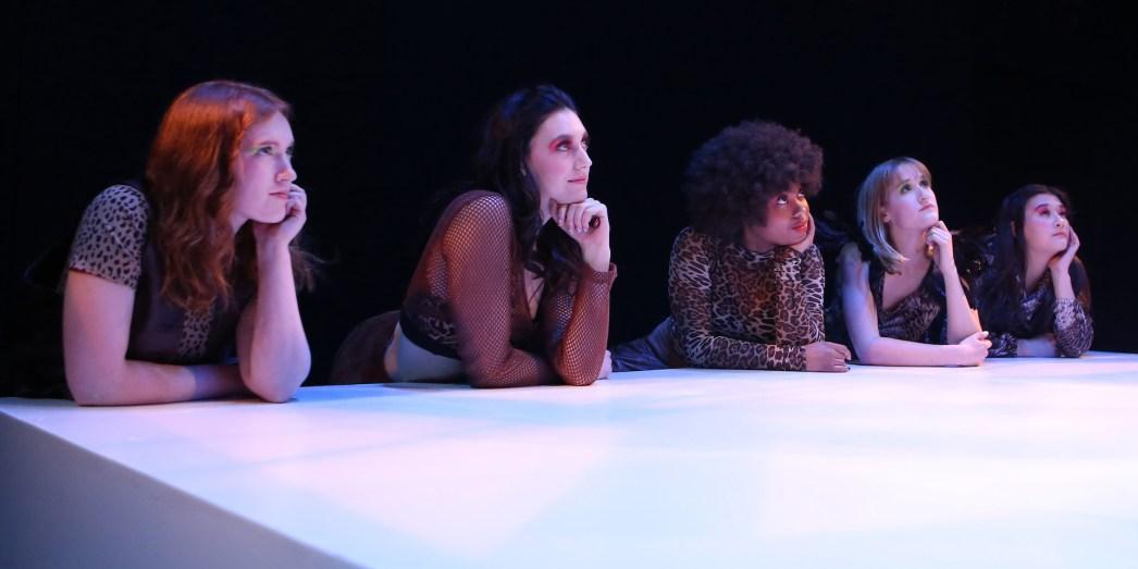 Models look on. Photo: Sue Kessler