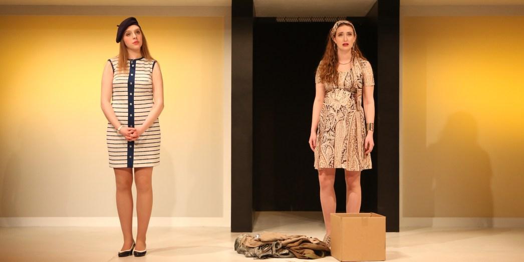 Lulu Fairclough-Stewart '19 (Louella) and Lucy Consagra '18 (Esme). Photo: Sue Kessler