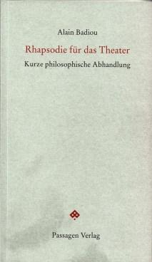 Badiou, Rhapsodie für das Theater Titelbild.jpg