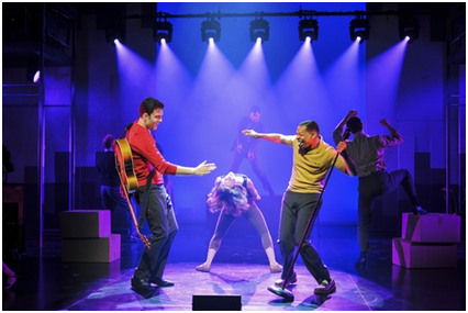 Zak Resnick and Derrick Baskin in a scene from Piece of My Heart: The Bert Berns Story (Photo credit: Jenny Anderson)