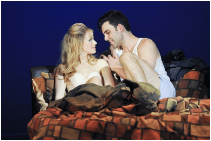 Teal Wicks and Zak Resnick in a scene from Piece of My Heart: The Bert Berns Story (Photo credit: Jenny Anderson)
