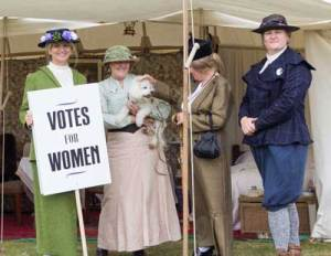Suffragets picketing to vote in the 1800s