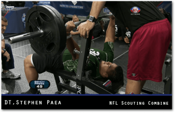 Bench press for athletic build