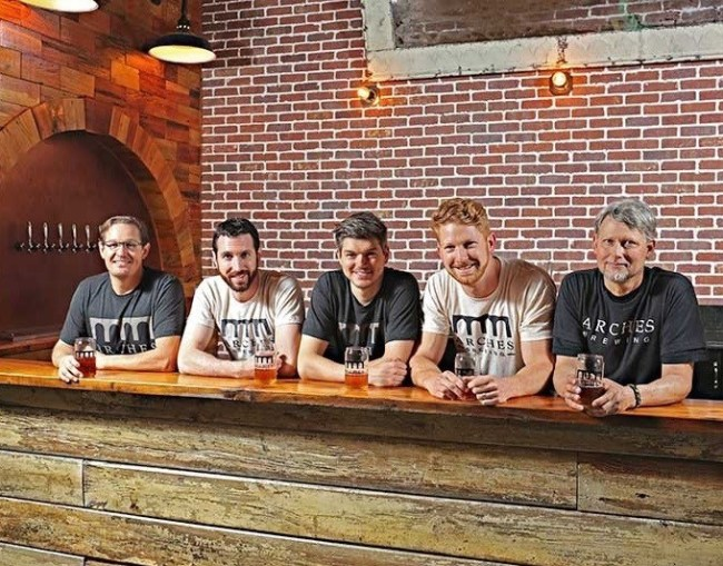 Arches Brewing's five-pillar logo represents its five founders. (Photo courtesy of Arches Brewing's website)