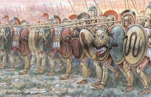 A Greek phalanx at the time of Xenophon