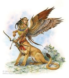 Gibborim Winged Liontaur Urmahlullu The Atlantis Project written by Jake Parrick
