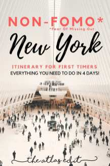 Non-FOMO Itinerary to New York City | Pin It!