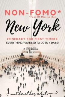 Non-FOMO Itinerary to New York City | Pin It!