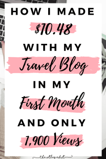 The Truth About My First Month Blogging Income