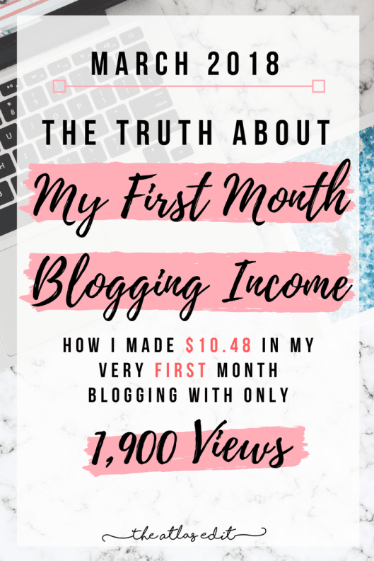The Truth About My First Month Blogging Income2