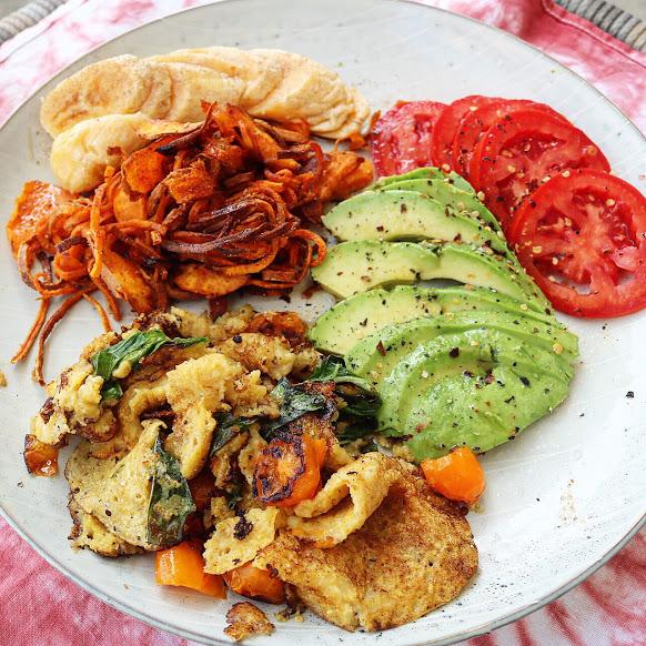 Sloppy Chikpea Omelette