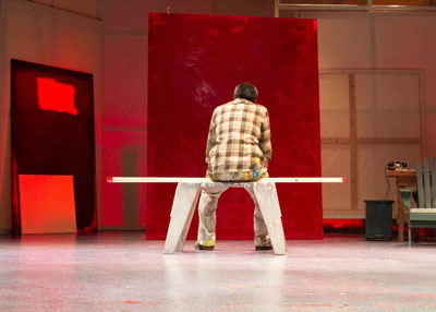 John Vickery as Rothko in RED.