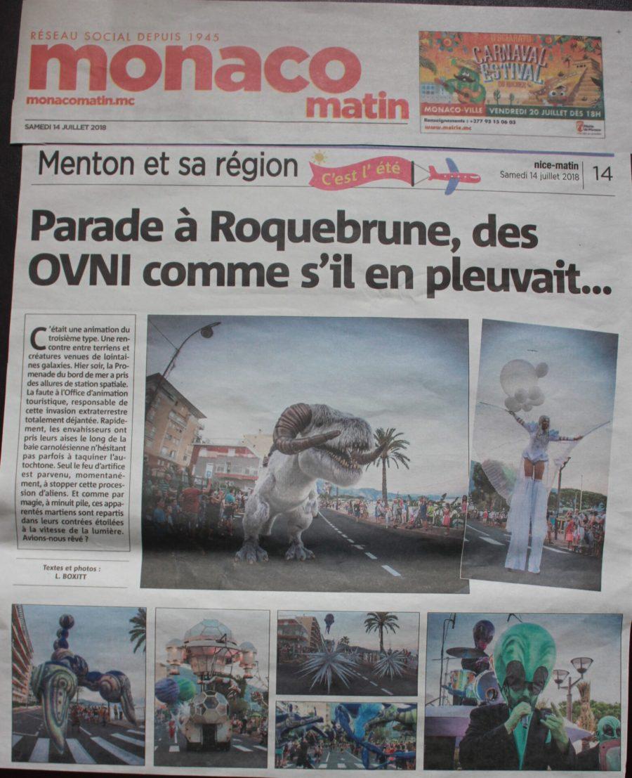 Parade à Roquebrune