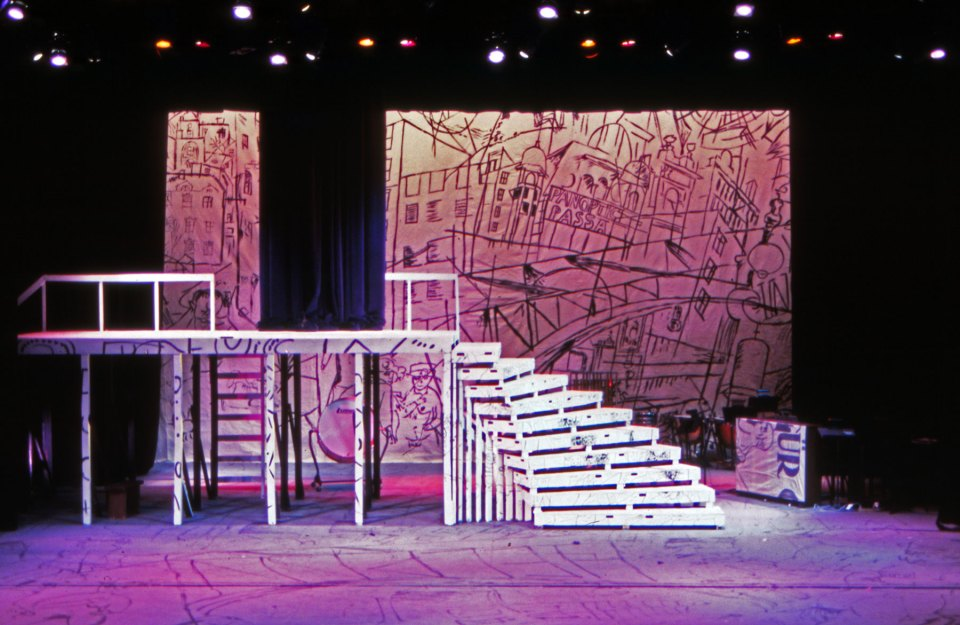 The Three Penny Opera set