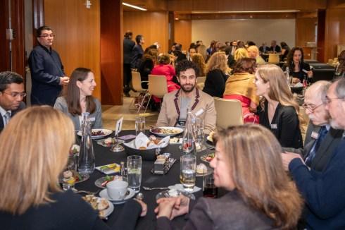 Board President, Isabelle Winkles, Brandon Uranowitz and Liv Amundsen
