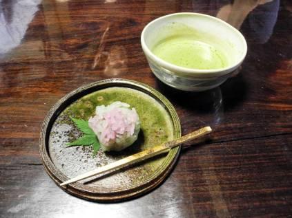 Matcha and rice sweet. ©2013 Megan Nicely.