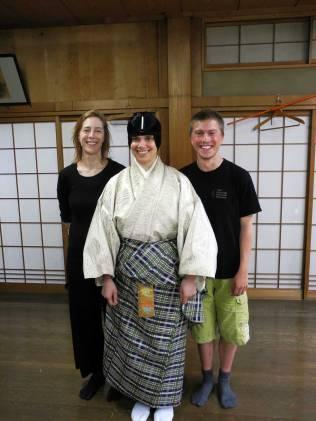 Megan Nicely, Jubilith Moore & Fritz Faust @Oshima Nohgakudo. ©2013 Megan Nicely.