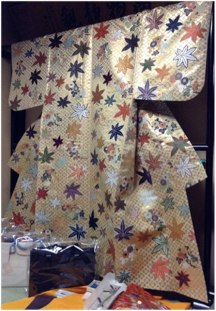 Example of the final product: a beautifully woven silk kimono.