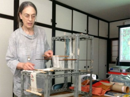 Monica Bethe Demonstrates Use of the Japanese Loom