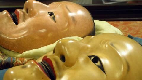 Masks @Oshima Nohgakudo. ©2013 Fritz Faust.