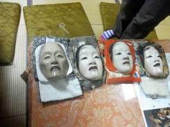 Noh masks @Oshima Nohgakudo. ©2013 John Oglevee.