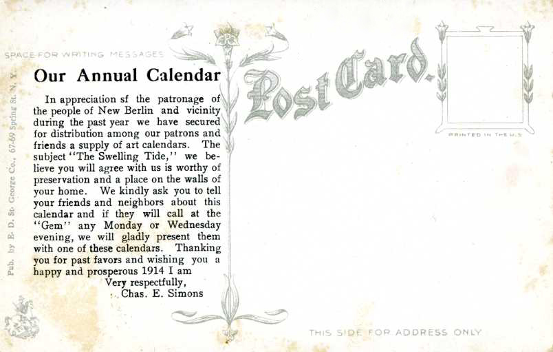 Happy and Prosperous 1914 from the Gem (2/2)