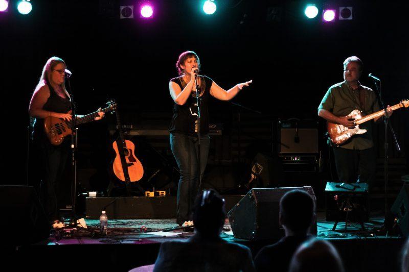 The Sarah Mac Band performing