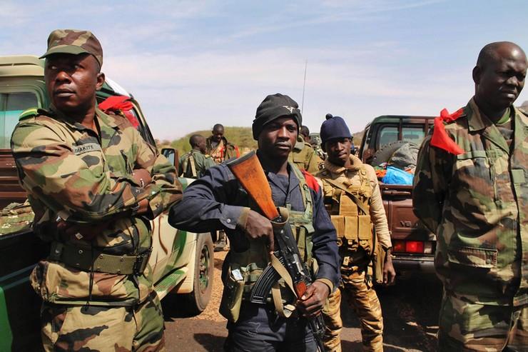 Soldats maliens à Gao le 27 janvier 2013. Crédit photo : Adama Diarra