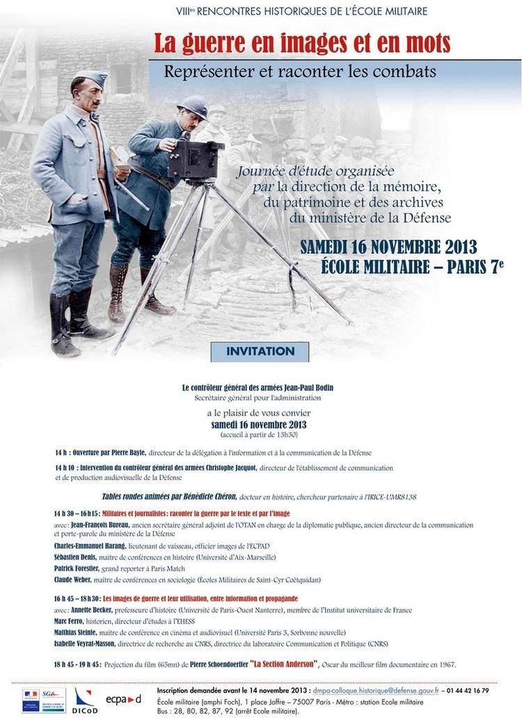 invitation colloque Guerre en images et en mots (1)