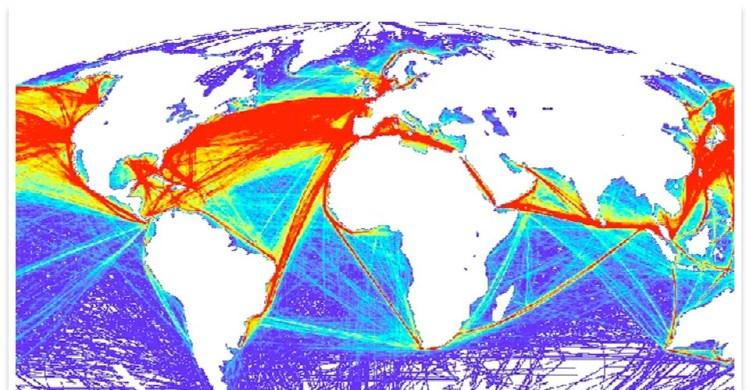 Principales voies maritimes. Source : Carnet maritime.
