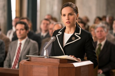 Felicity Jones stars as Ruth Bader Ginsburg in ON THE BASIS OF SEX