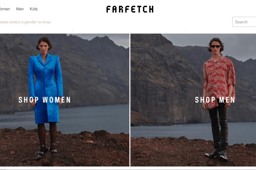 Farfetch homepage