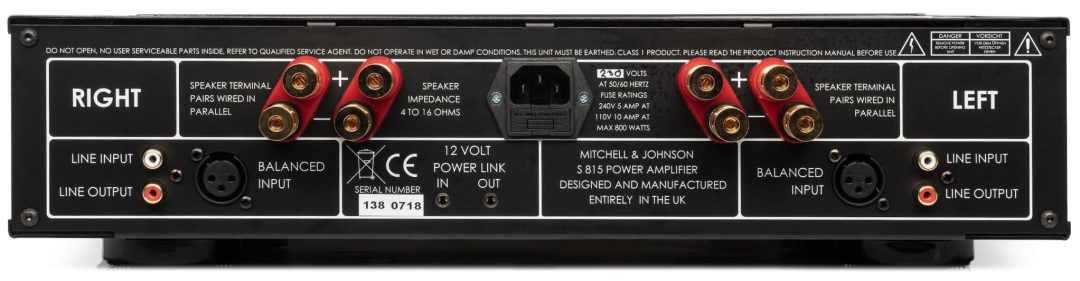 S800 & S815 Pre & Power Amps: Mitchell & Johnson