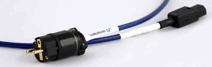 Ultra Blue II Mains Cable From Tellurium Q